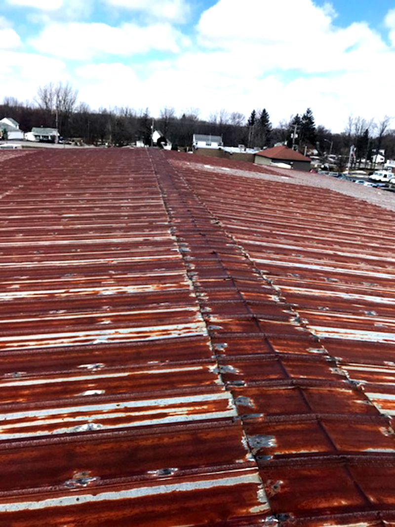 Rusted Roofing Panels